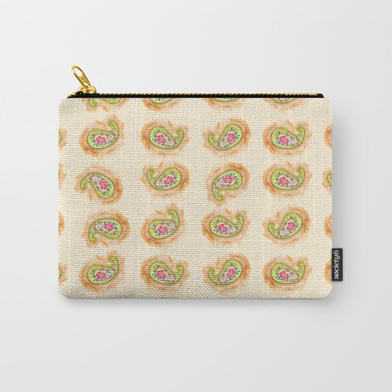 Paisley Watercolor in Tea (tan brown) Carry-All Pouch
