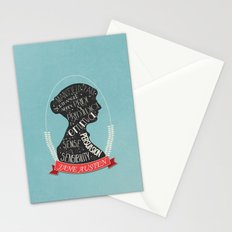 Jane Austen Silhouette Portrait Stationery Cards
