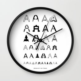 A is the first letter Wall Clock