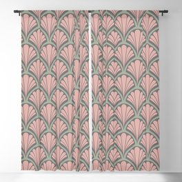 Vintage seashell tapestry - antique Blackout Curtain