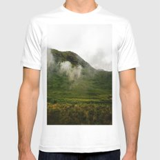 Green Land MEDIUM White Mens Fitted Tee