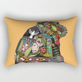 chimpanzee love Rectangular Pillow