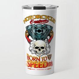 Motor skull Travel Mug