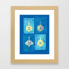 Hanukkah Dreidel Framed Art Print