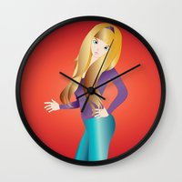 doll Wall Clocks featuring Doll by Flying Cat Artwork