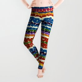 African American Masterpiece 'Light Blue Nursery'' by Alma Thomas Leggings
