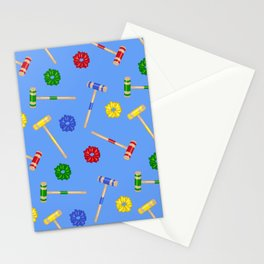 Heathers Blue Repeat Pattern Stationery Cards
