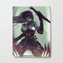 Female Vampire Assassin Metal Print