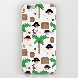 Seamless pirate colorful kids retro background pattern iPhone Skin