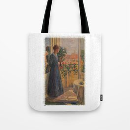 Woman at the window Tote Bag