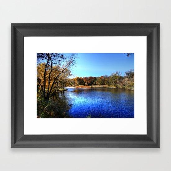 Kishwaukee River Framed Art Print
