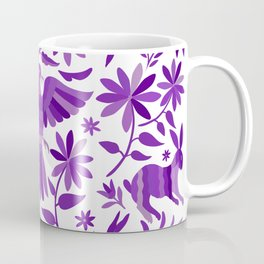 Mexican Otomí Design in Purple Coffee Mug