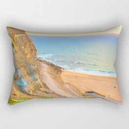 cliffs ericeira surf Rectangular Pillow