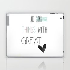 Do small things, typography, quote, inspiration Laptop & iPad Skin