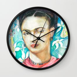 Frida Kahlo, my tribute Wall Clock