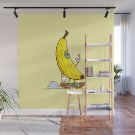 The Banana Skater Wall Mural
