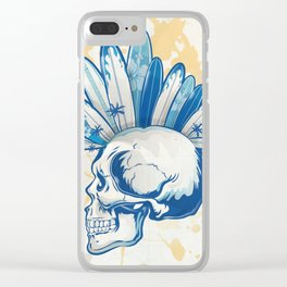 surfer skull Clear iPhone Case
