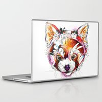 red panda Laptop & iPad Skins featuring Red Panda  by Abby Diamond