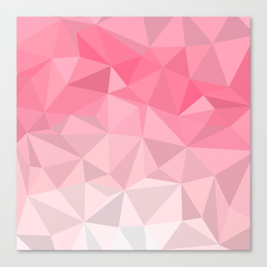 Pink Polygon Canvas Print