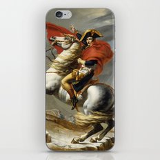 Napoleon Crossing the Alps by Jacques Louis David iPhone & iPod Skin