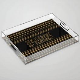 Unbreakable Acrylic Tray