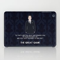 moriarty iPad Cases featuring The Great Game - Jim Moriarty by MacGuffin Designs