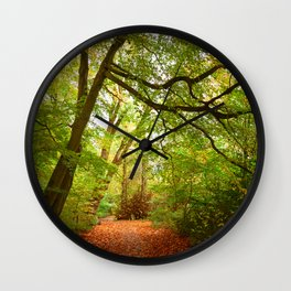 Path in the forest Nature Wall Clock