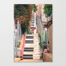 Piano <3 Staircase Canvas Print
