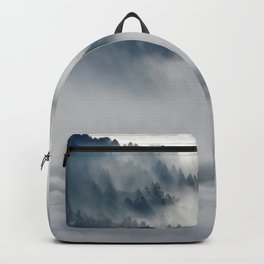 Photo of a wolf in a winter scene Backpack