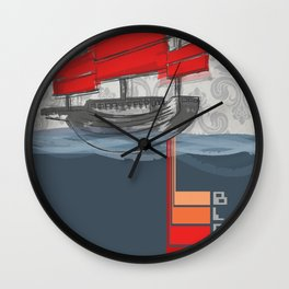Poster Project | Bless Ship Wall Clock