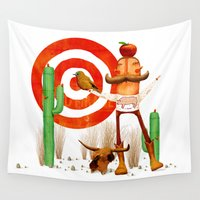 cowboy Wall Tapestries featuring Cowboy by Nacho Z. Huizar