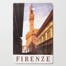 Vintage Florence Italy Travel Cutting Board
