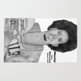 Allen Iverson Rookie Year Portrait Rug