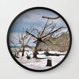 Drift Wood Beach 4 Wall Clock