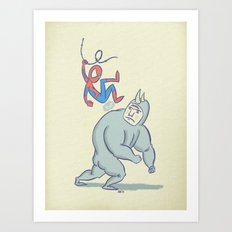 Noisy Swinger Art Print