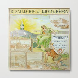 Vintage poster - Absinthe Beucler Metal Print