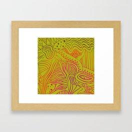 green dream Framed Art Print