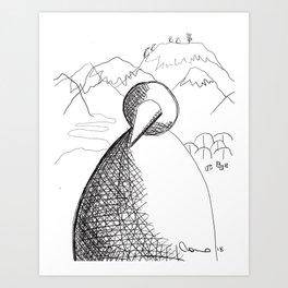 Metaphysical Penguin of Kilimanjaro 1 Art Print