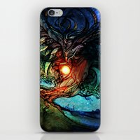 shadow of the colossus iPhone & iPod Skins featuring Colossus by Tatiana Anor