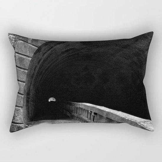 Paw Paw Grunge Tunnel - Black & White Rectangular Pillow