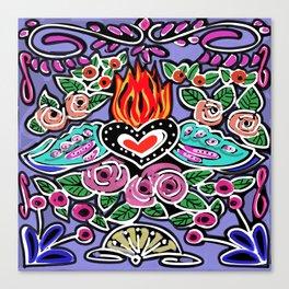 Mi Corazon Canvas Print