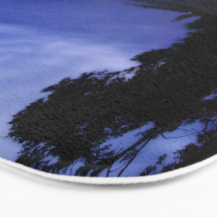 When the night falls - Blue hour at the Sea Landscape at Night #Society6 Bath Mat