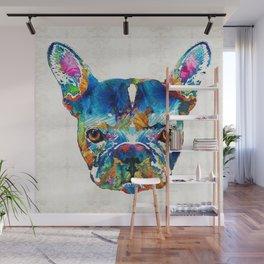 Colorful French Bulldog Dog Art By Sharon Cummings Wall Mural