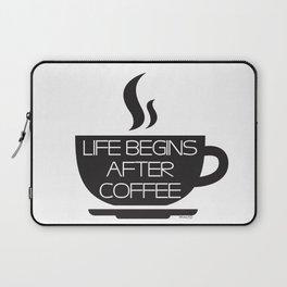 Inspirational quote digital art print - Coffee Laptop Sleeve