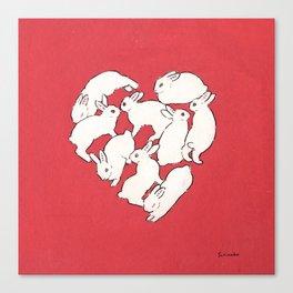 Bunny heart Canvas Print
