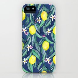When Life Gives You Lemons - blue iPhone Case