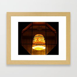 Walking At Night Framed Art Print