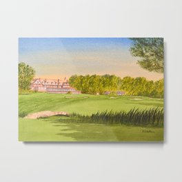 Royal Liverpool Golf Course 18th Hole Metal Print