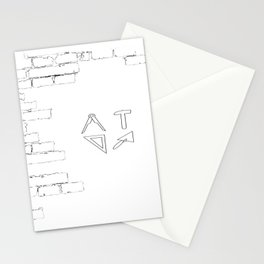 funny bricklayer profession craftsman guild sign trowel statics Stationery Cards