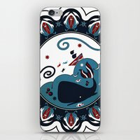 the whale iPhone & iPod Skins featuring whale by gazonula